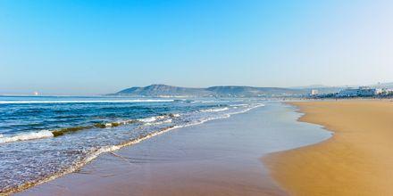 Strand i Agadir, Marokko.