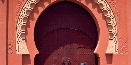 Portal til Medinaen i Marrakech, Marokko.