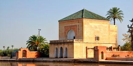 Menaraparken i Marrakech, Marokko.
