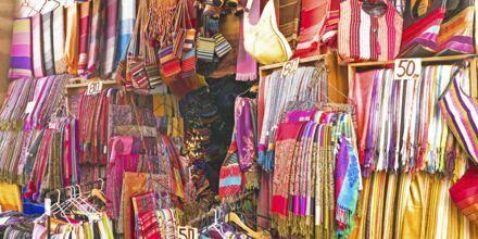 Marked i Marrakech, Marokko.