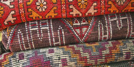 Tæpper i Marrakech, Marokko.