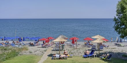 Stranden udenfor Hotel Mary i Platanias, Kreta.