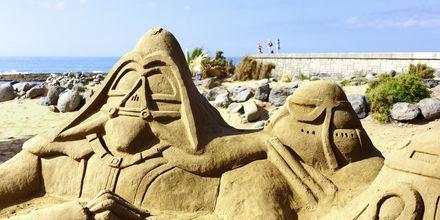 Sandskulpturer i Meloneras/Maspalomas på Gran Canaria, De Kanariske Øer, Spanien.