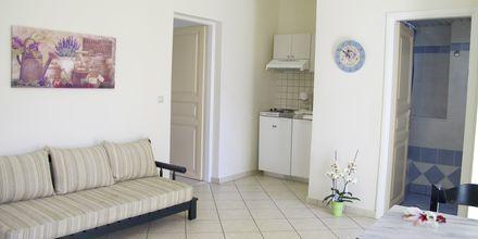 2-værelses lejlighed på hotel Melina Beach på Kreta, Grækenland.