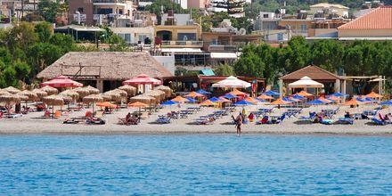 Stranden ved hotel Melina Beach på Kreta, Grækenland
