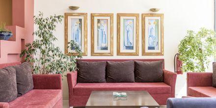 Lobbyen på Hotel Melmar i Rethymnon by på Kreta.