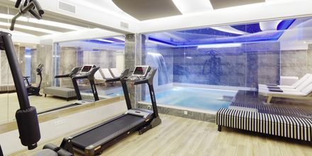 Fitness på Hotel Melrose i Rethymnon, Kreta.