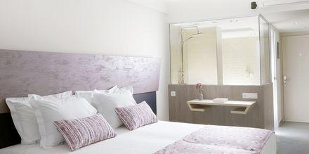 Dobbeltværelse på Hotel Melrose i Rethymnon, Kreta.