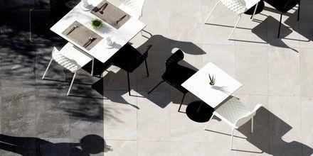 Café på Hotel Melrose i Rethymnon, Kreta.