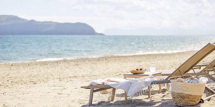 Stranden ved hotel Minoa Palace Resort & Spa i Platanias på Kreta, Grækenland.