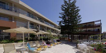 Solsenge på Hotel Minos i Rethymnon, Kreta.