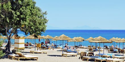 Stranden ved Mitsis Blue Domes Resort & Spa på Kos i Grækenland.