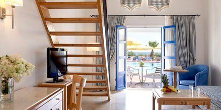 Familie-værelse i etage på Norida Beach Mitsis Hotels på Kos.