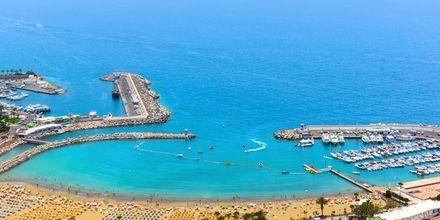 Udsigt fra hotel Monteparaiso i Puerto Rico, Gran Canaria.