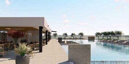 Skitse billede af Hotel Myrion Beach Resort i Gerani på Kreta, Grækenland.