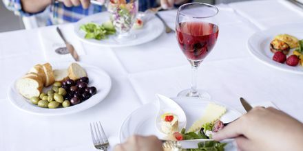 Buffetrestauranten på Hotel Mythos Beach Resort i Afandou på Rhodos