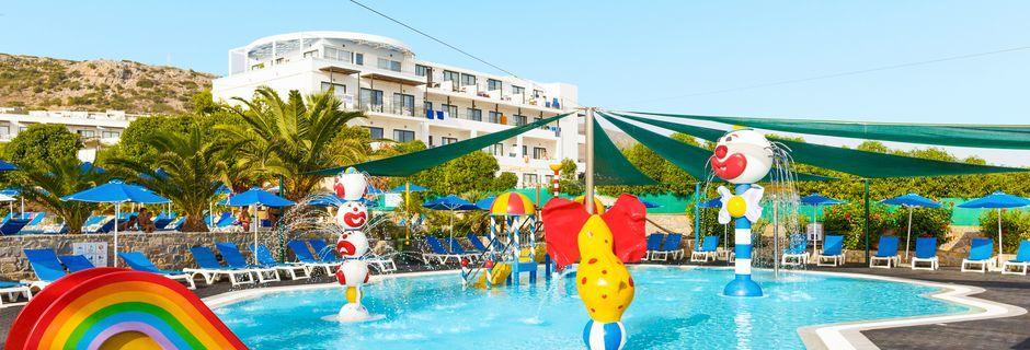 Børnepool på Nana Golden Beach på Kreta, Grækenland.