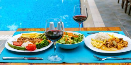 Restaurant på Hotel Nar Apart i Side, Tyrkiet.