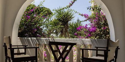 Balkon på Hotel Naxos Beach på Naxos, Grækenland.