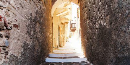 Gade i Kastro i Naxos by, Naxos, Grækenland.