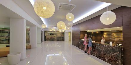 Receptionen på Hotel Nelia Beach i Ayia Napa, Cypern