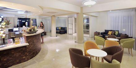 Reception på Hotel Nelia Garden, Ayia Napa, Cypern.
