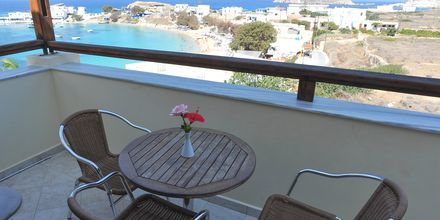Balkon i 1-værelses lejlighed på Hotel Neraida på Karpathos, Grækenland