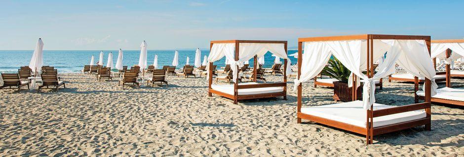 Stranden i Pomorie, Bulgarien.