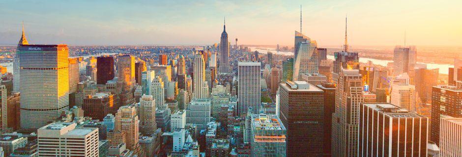 Skyline i New York, USA.