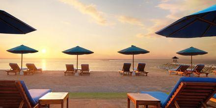 Stranden ved Hotel Nikko Bali Benoa Beach i Tanjung Benoa, Bali.