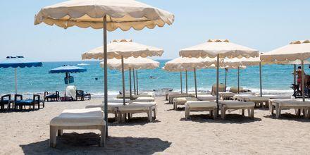 Stranden ved Hotel Nikolas i Lardos på Rhodos, Grækenland.