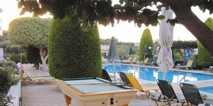 Billardbord på Hotel Nikolas Villas ved Hersonissos på Kreta.