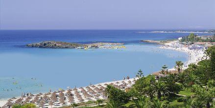 Stranden ved Nissiana i Ayia Napa, Cypern.