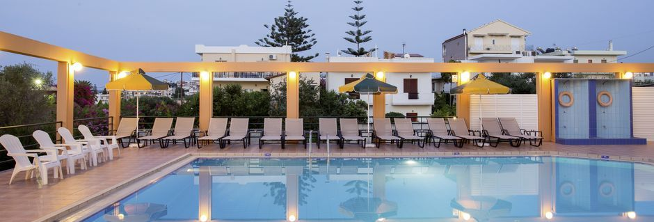 Poolen på hotel Nontas på Kreta, Grækenland