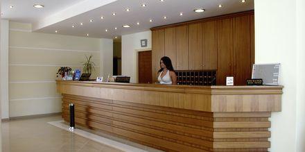 Reception på hotel Nontas på Kreta, Grækenland