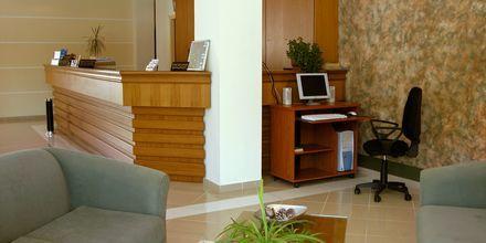 Reception på Hotel Nontas på Kreta, Grækenland.