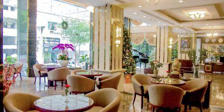 Lobby på Hotel Northern Saigon, Vietnam.