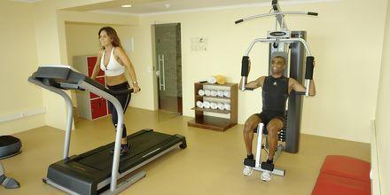 Fitnessrum på Hotel Orca Praia på Madeira, Portugal.