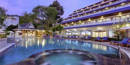 Pool på Hotel Orchidacea Resort ved Kata Beach, Phuket, Thailand.