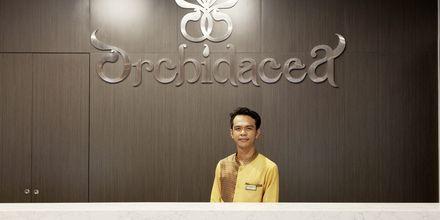 Reception på Hotel Orchidacea Resort ved Kata Beach, Phuket, Thailand.