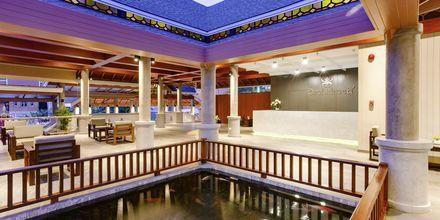 Lobby på Hotel Orchidacea Resort ved Kata Beach, Phuket, Thailand.
