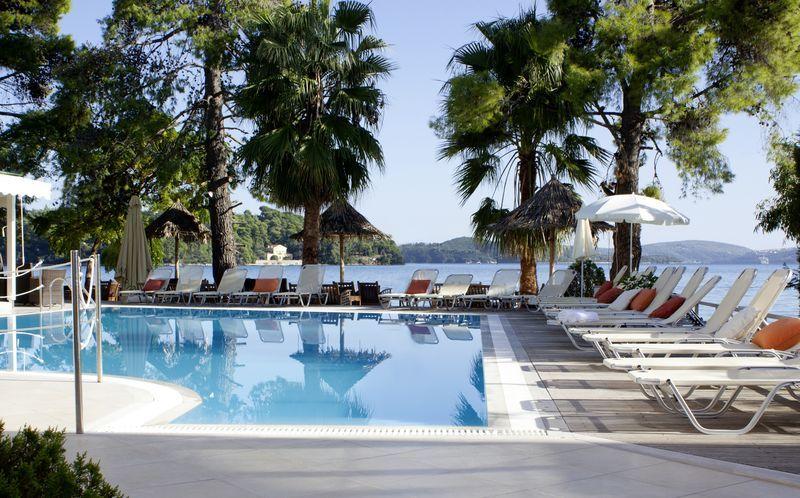 Poolen på hotel Orion på Lefkas, Grækenland.