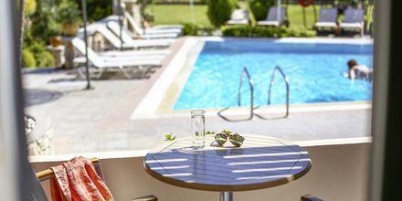 Udsigt fra lejligheden på Hotel Orion på Rhodos, Grækenland.