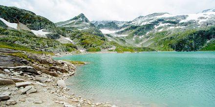 Glaciersøen i Alperne, Østrig.