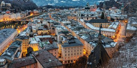 Vinter i Salzburg, Østrig.