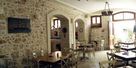Morgenmad på Hotel Palazzino di Corina i Rethymnon, Kreta.