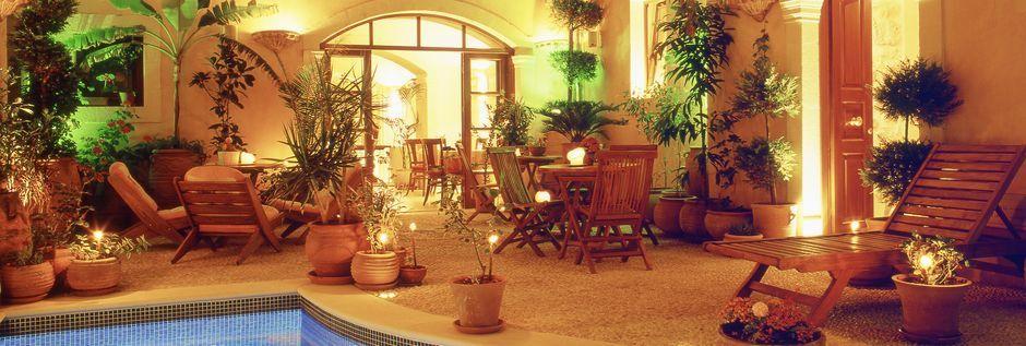 Poolen på Hotel Palazzino di Corina i Rethymnon, Kreta.
