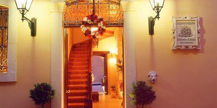 Indgang til Hotel Palazzino di Corina i Rethymnon, Kreta.