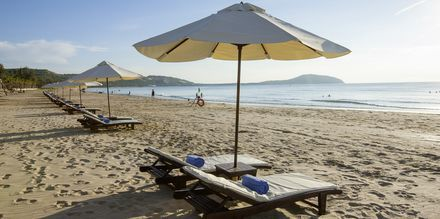 Stranden på Hotel Pandanus Resort, Phan Thiet i  Vietnam.
