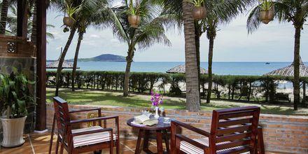 Dobbeltværelse i bungalow på Pandanus Resort, Phan Thiet i Vietnam.